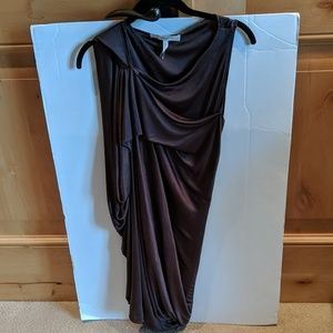 New BCBG Maxazria Runway Copper Grecian Dress
